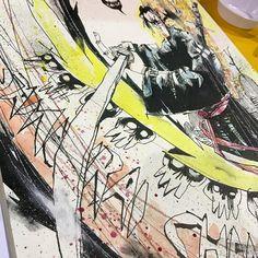 Samurai Champloo type destruction.  #jin #mixedmedia #samuraichamploo #samurai #anime #visualfunk #foodone #jimmahfood