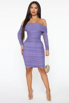 Ready And Ruched Mesh Midi Dress - Blue, Dresses | Fashion Nova Purple Mini Dresses, White Midi Dress, Long Sleeve Midi Dress, White Maxi Dresses, Nice Dresses, Dress Long, Dress Black, Lavender Dresses, Curves Clothing