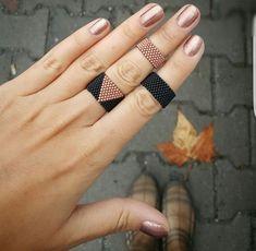 Miyuki ring set Miyuki beads, hand-knitted ring set, complete your elegance. 362192 Image Size: 736 x 719 Pin Boards Name: meyniii