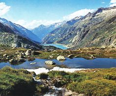Grimselsee Switzerland | Switzerland - Grimsel Pass. Gelmersee (or Lake Gelmer) is a lake in ...