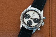 Rolex Cosmograph Daytona Paul Newman with silver dial and black sub-dials at A Collected Man London