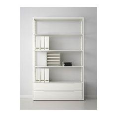 FJÄLKINGE Open kast met lades, wit wit 118x193 cm