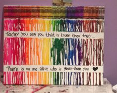 Melted Crayon Art Diy Quotes Gift Ideas 38 Ideas For 2019 Cute Crafts, Crafts To Do, Arts And Crafts, Diy Crafts, A-level Kunst, Best Friend Birthday Present, Birthday Presents, Melted Crayon Crafts, Art Projects For Adults