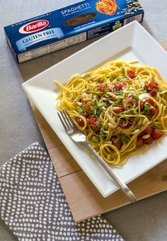 Barilla Gluten Free Spaghetti with Tomatoes and Pine Nuts - make it in just a few minutes!