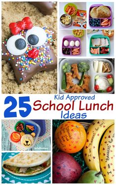 25 Kid Approved School Lunch Ideas: Avoid the school lunch rut with these 25 creative and delicious lunch ideas.