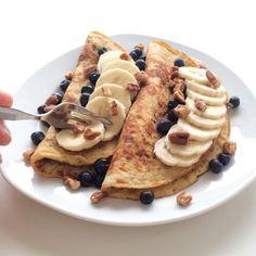 Healthy Breakfast & Travel by Curlsnchard