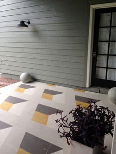 Now that is one gorgeous porch. #diy #floors