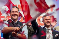 The Freedom Party of Austria (FPÖ) is led by Heinz-Christian Strache (left)...