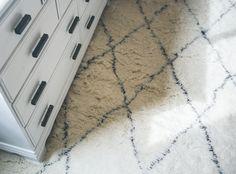 white diamond shag rug