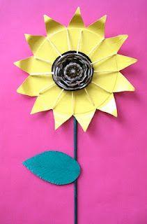 Plate sunflower circle weavings