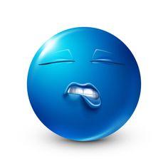 Emoji Man, Smiley Emoji, Blue Emoji, Emoji Love, Funny Emoji Faces, Funny Emoticons, Laughing Emoji, Emoji Pictures, Blue Lips
