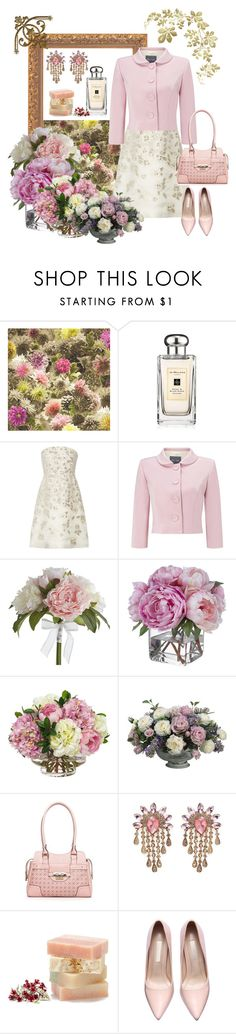 """""""."""" by irenpin ❤ liked on Polyvore featuring Jo Malone, Lela Rose, Phase Eight, Pier 1 Imports, Diane James, Allstate Floral, Rosetti, Juliet & Company, women's clothing and women"""