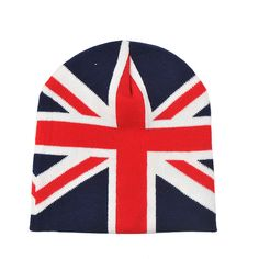 Find More Skullies  amp  Beanies Information about Women Knitted Winter Hats  Union Jack Beanies Men ab7841601