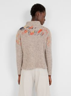 Funnel Neck Pullover Oatmeal