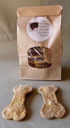 All natural Peanut Butter Pumpkin dog treats. No preservatives and so good you may want a bite!