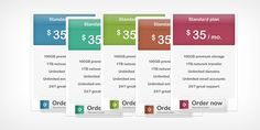 37 Free Pricing Table PSD Templates