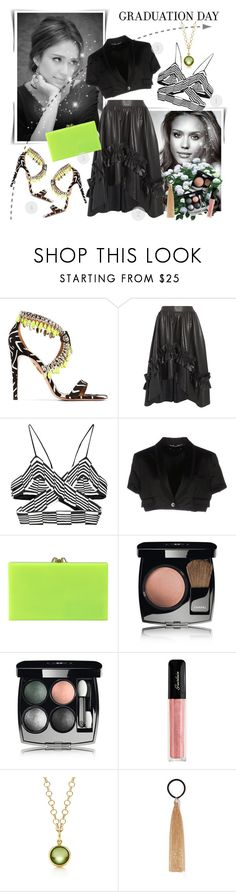 """""""Graduation Day Style"""" by danijelapoly ❤ liked on Polyvore featuring Aquazzura, Cédric Charlier, Alexander Wang, Dolce&Gabbana, Charlotte Olympia, Chanel, Guerlain, Paloma Picasso, Rosantica and Graduation"""