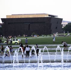 Here's the African American Museum of History and Culture on the National Mall in Washington DC.