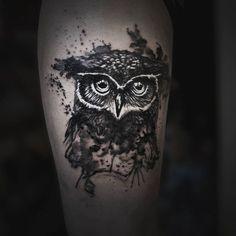 Owl leg tattoo #tattoo #ink #ink_by_tomasz #inked #smaltattoo #cute #sexy #owl #owltattoo #instaart #instagood #instalike #instaink #legtattoo…