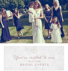 To celebrate the launch of our SS17 Wedding Boutique, we're inviting brides-to-be and their wedding party (including the mother-of-the-bride, bridesmaids, flower girls and page boys) to our in-store bridal events for an evening of exclusive treats and discounts, in collaboration with Brides Magazine.