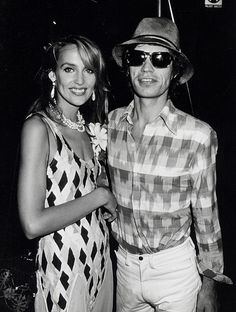 Behati Prinsloo, Kate Moss and Lily Aldridge and 7 Other Supermodels Who Married Rock Stars – Vogue - Jerry Hall and Mick Jagger Jerry Hall, Bianca Jagger, Mick Jagger, Patti Hansen, Anita Pallenberg, L'wren Scott, Famous Celebrities, Famous Women, Celebs