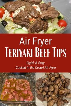In a rush? You can skip the grill and still have absolutely delicious beef tips in just a few minutes. The teriyaki marinade is delicious, and my Cosari air fryer cooked them to perfection. #airfryer #airfryerrecipe #teriyakibeeftips #cosariairfryer
