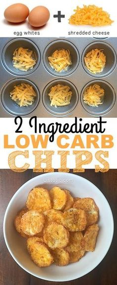 2 Ingredient chips! The perfect low carb, easy snack recipe!