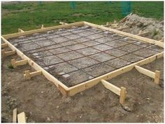 How to build a concrete block shed foundation ~ Haddi - Pergola Ideas Concrete Sheds, Concrete Blocks, Pouring Concrete Slab, Diy Concrete Patio, Concrete Pad, Shed Building Plans, Shed Plans, Building Ideas, Shed Base