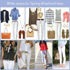 How to Wear White Jeans for Spring!