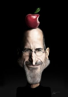 Celebrity Caricatures by Marco Calcinaro | Inspiration Grid | Design Inspiration #stevejobs #apple
