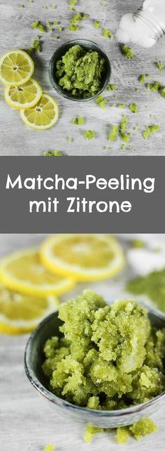 Das Matcha-Peeling ist schnell hergestellt und duftet herrlich frisch nach Olive und Zitrone.