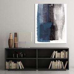 Minimalist Poster Printable Art Blue/Black/Grey by MinimalInstant