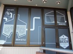 The beer brewing process is described on the outside of the Odyssey builing during the 2014 Epcot International Food & Wine Festival. Craft Beer is inside the building this year instead of being at an outside kiosk. Window 4.