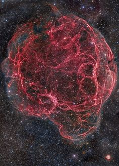 "thedemon-hauntedworld: ""Simeis 147 (Spaghetti Nebula) and Sh2-242 Simeis 147 (Spaghetti Nebula, or Sharpless 2-240) is a large supernova remnant in the constellations of Taurus and Auriga. It's a..."