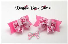 Dog Bows~Breast Cancer Awareness Tiny Ties