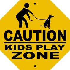 KIDS PLAY ZONE OCTAGON ALUMINUM SIGN CKPZOCT