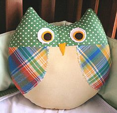 Download Max the Owl Pillow Sewing Pattern | Pillows | YouCanMakeThis.com