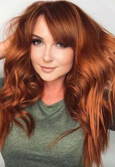 53 Fancy Ginger Hair Color Shades to Obsess over: Ginger Hair Facts - Ginger Hair Color Shades: Ginger Hair Dye Tips - Ginger Hair Dyed, Ginger Hair Color, Dyed Red Hair, Natural Red Hair Dye, Hair Color Auburn, Red Hair Color, Cool Hair Color, Dyed Tips, Hair Dye Tips