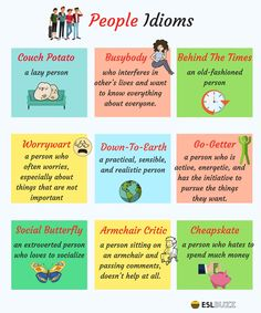 Common Idioms to Describe People in English 1/2