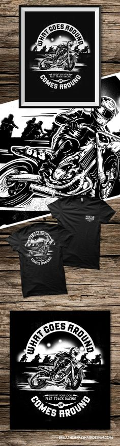 Hustle Machine – Breath Of Fresh Air Design Flat Track Racing, Breath Of Fresh Air, Motorcycle Outfit, Summer Collection, Hustle, Design, Design Comics