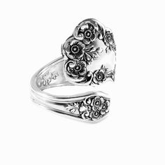 Spoon Ring Buttercup 1899 Sterling Silver by by THEVINTAGESPOONS