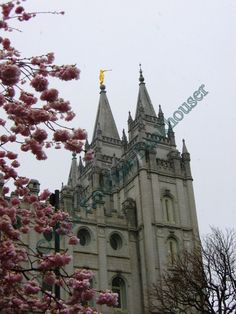 LDS Temple Salt Lake City Early Spring by HikingTuesday on Etsy