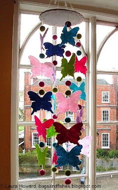 After all these years, I need to get around to making this!  I keep putting it off.  ~MAA...Bugs and Fishes by Lupin: How to: Butterfly Mobile