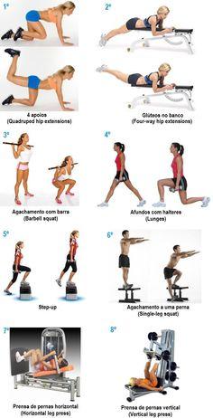 Os melhores exercícios para os glúteos