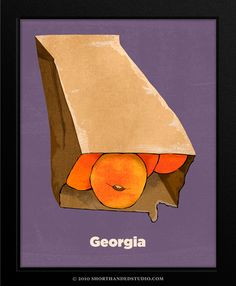 """Too cute.  The state of Georgia in the """"United Plates."""""""