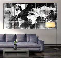 World map canvas wall painting home decor vintage large canvas print canvas print black and white world map wall art ready to hang large wall art world map art world map print world map print on canvas mc147 gumiabroncs Choice Image