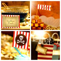 Pirate Party - PRINTABLE Full Party Pack diy - banner cupcake topper wrapper label tag flag boy diy digital pdf. $26.00, via Etsy.