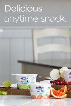 Rich, creamy Greek yogurt with a twist: try FAGE Total 2% Key Lime. It's great for breakfast or dessert!