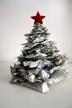 Christmas tree newsprint