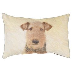 Airedale Terrier Pet Bed - dog puppy dogs doggy pup hound love pet best friend